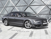 Audi S8. Real Power is hard to hide