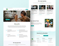 Elderly Care Agency Home Page Design