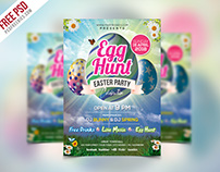 Free PSD | Easter Party Invitation Flyer Template PSD