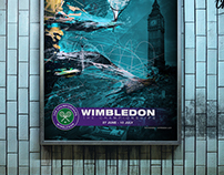 Wimbledon Tennis Tournament Poster
