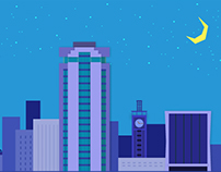 Nairobi Skyline in Material Design