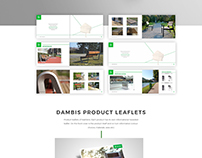 Dambis, urban furniture, design works
