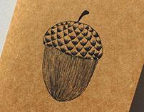 Acorn print & notebook