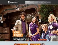 Personal Work - Website design - Aleatory