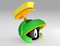 Marvin Martian in cube art