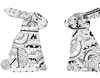 Rabbits Pattern & illustration
