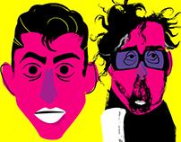 """Famous Faces"" Illustration project"