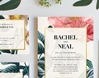 Elegant Jardin Wedding Invitation Package