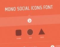 Mono Social Icons Font