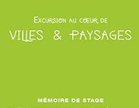 Graphisme - Mémoire de stage atelier villes et paysages