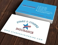 Business Card Design for Insurance Company