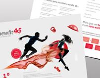 Newfit 45+ healthclub branding, flyer & webdesign