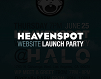 Heavenspot Website Launch Party Invitation