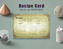 Free Vintage Recipe Card Template
