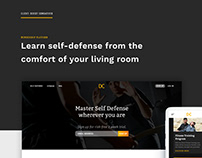Self Defense Training Web Platform - UX/UI
