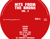 Hits from the Bronx - CD cover, Vinyl cover and labels