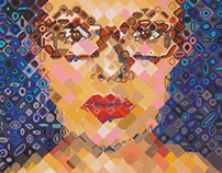 Chuck Close Inspired Self Portrait