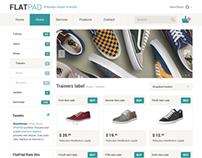 FlatPad Online Shop PSD template