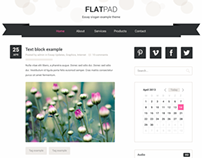 FlatPad blog PSD template