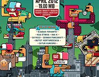 Jogja Hip Hop Foundation Gig Poster