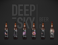 Deep Sky logo and label design.