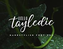 Hello Tayledic Handstylish Font Duo