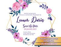 Convite | Save the date + template do modelo