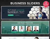 Business Sliders - 3 Designs
