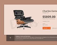 Eames lounge chair UI