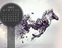 Design for Fun, Calendar Wallpaper Design