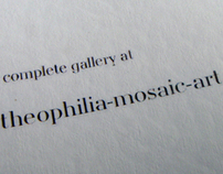 Theophilia Mosaic & Art - Booklet Design