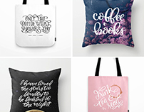Society6 Hand Lettered Merch