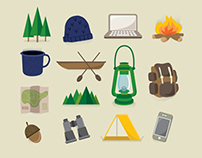 Free Hipster Camping & Hiking Icons
