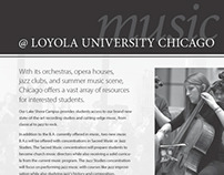 Loyola University Music Advertisement