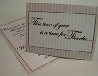 Thank You Card/Invitation