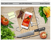 Phone& Tablet  Mock Up Food Theme