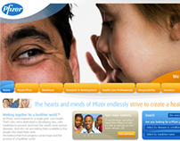 Pfizer - Webdesign proposal
