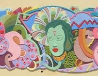 Mural at Ramoji film city.