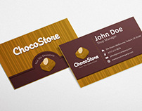 Free Chocolate Business Card Design Template