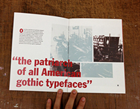 Franklin Gothic Type Booklet