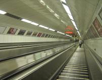 Tunel no metro de Budapeste_Tunnel in Budapest Metro