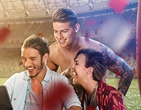 CLARO MOBILE CAMPAIGN WITH JAMES RODRIGUEZ.