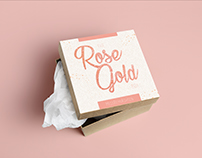 Remi Ashten - Rose Gold Subscription Box Design