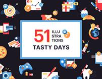 Tasty days illustrations