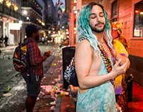 The Blue Krewe and 24 hours of Mardi Gras