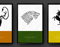 Game of Thrones House Sigil Prints
