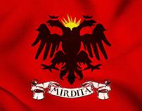 Albania flag / Mirdita