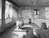 Frankenstein Tonal Drawings