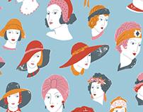 Great Gatsby Girls pattern