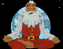 "Christmas cards with ""spiritual"" Santa Claus"